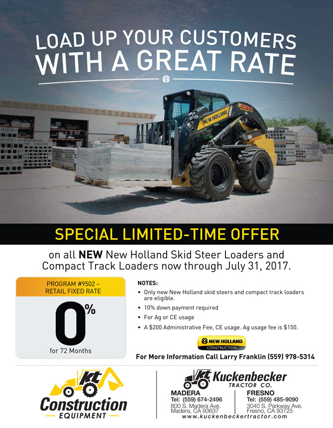 Kuckenbecker Tractor Co  » New Holland Construction 0% APR